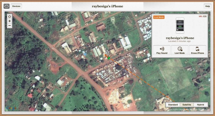 iPhone located in Njeru Town